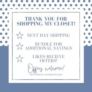 THANK YOU FOR SHOPPING MY CLOSET